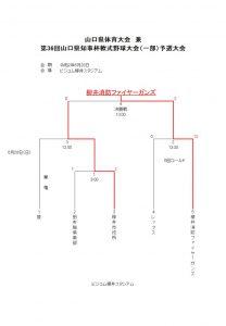 山口県体育大会 兼 第36回山口県知事杯軟式野球大会(一部)予選大会