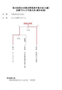 第24回西日本軟式野球選手権大会(A級)岩柳ブロック予選大会