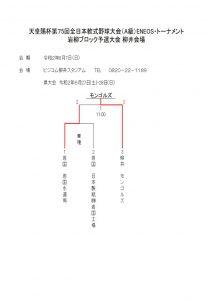 天皇賜杯第75回全日本軟式野球大会(A級)岩柳ブロック予選大会 柳井会場